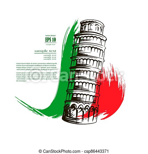 Leaning Tower of Pisa - csp86443371