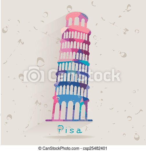 Leaning Tower of Pisa - csp25482401