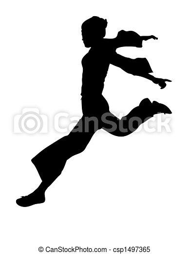 leaping dancer - csp1497365