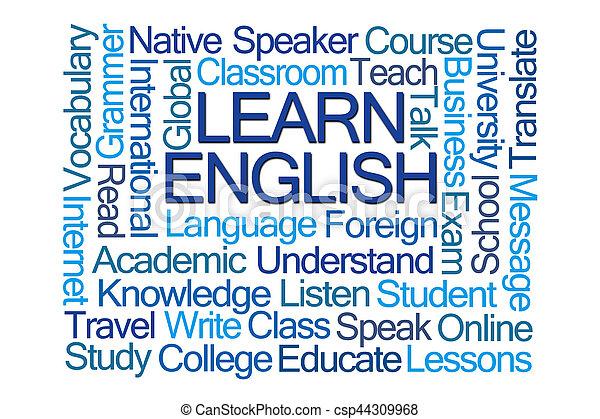 Learn English Word Cloud - csp44309968