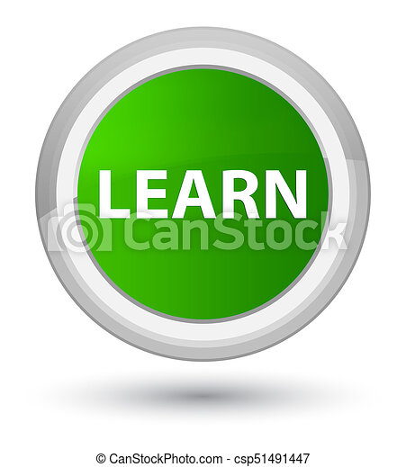 Learn prime green round button - csp51491447