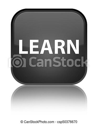 Learn special black square button - csp50376670