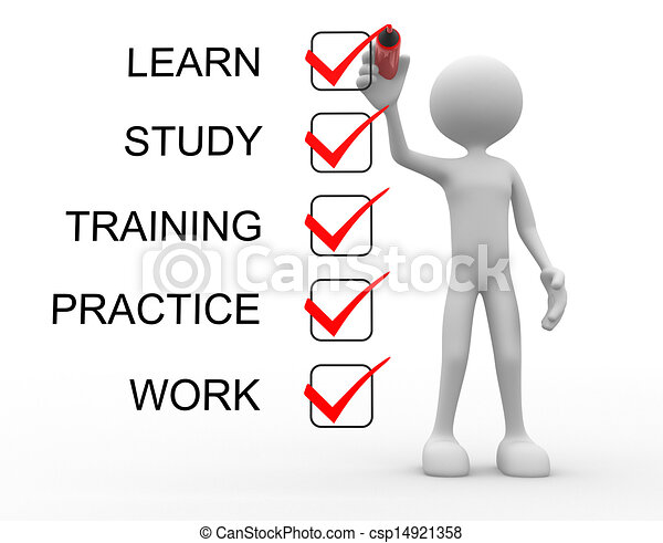 Learn, study, practice, training, work - csp14921358