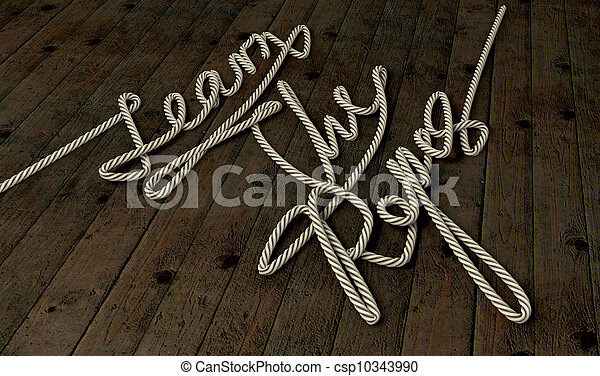 Learn The Ropes Rope - csp10343990