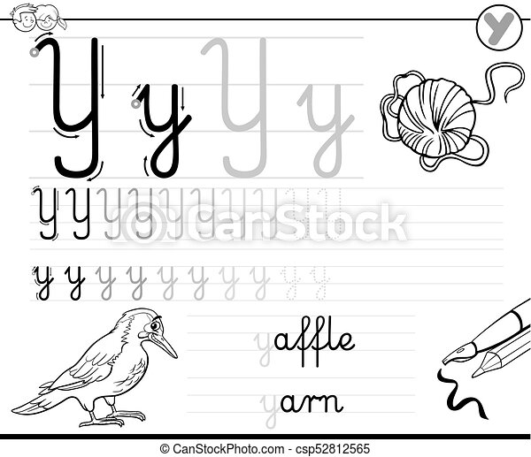 Learn To Write Letter Y Workbook For Kids