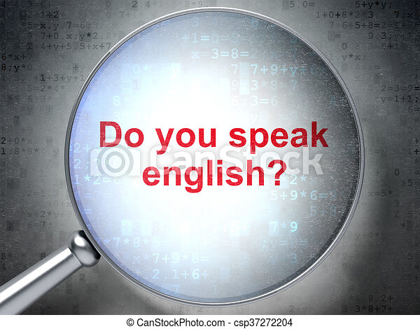 Learning concept: Do you speak English? with optical glass - csp37272204