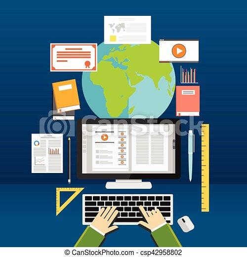 Aprendizaje en línea. - csp42958802