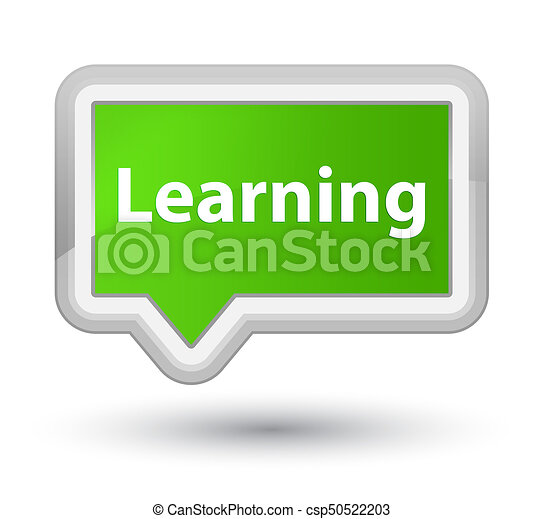 Learning prime soft green banner button - csp50522203