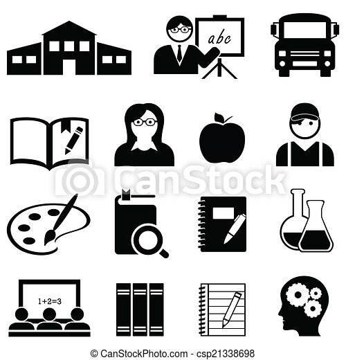 Learning, school and education icons - csp21338698