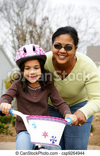 Learning To Ride A Bike - csp9264944