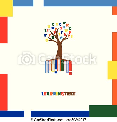Learning Tree Logo Template Education Letters Books Vector