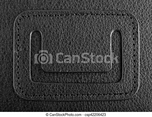 leather black background - csp42206423