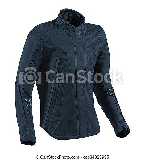 Leather jacket isolated on white - csp34323935