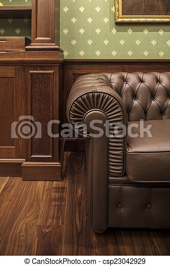 leather sofa in office
