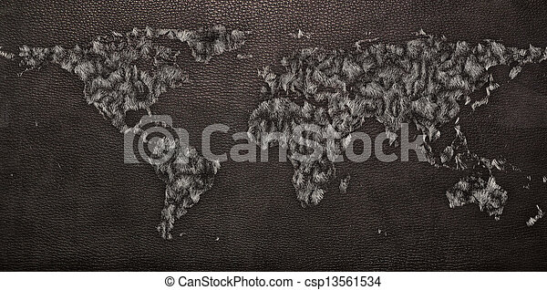 Leather texture of world map leather black and furtexture stock leather texture of world map csp13561534 gumiabroncs Gallery