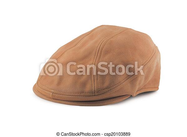 Leather Tweed Cap - csp20103889