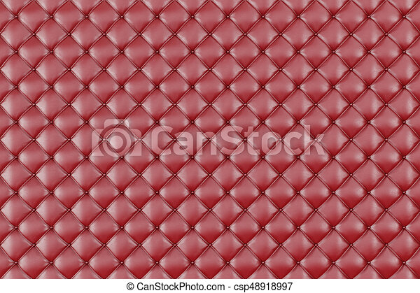 Leather Upholstery Sofa Background Red Luxury Decoration Sofa