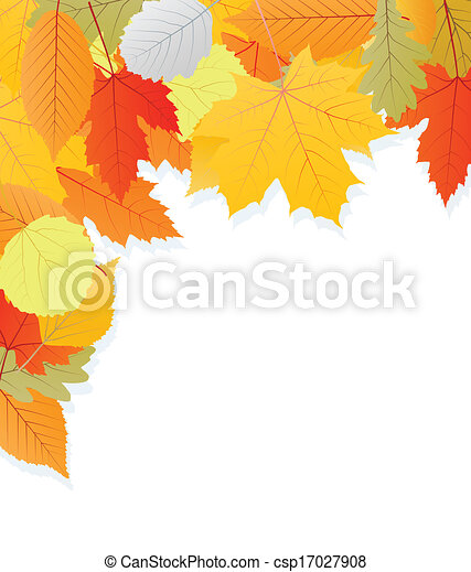 Leaves autumn vector background - csp17027908
