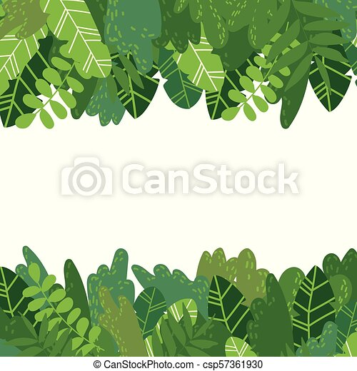 Leaves Background Horizontal Vector Cartoon Style Background Of Exotic Tropical Green Leaves And Bushes Horizontal Canstock Ornamental curly swirls background | designed by vexels.com. https www canstockphoto com leaves background horizontal 57361930 html