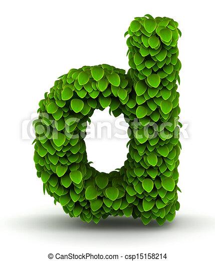 Leaves Font Letter D Lowercase Leaves Alphabet Font Letter D