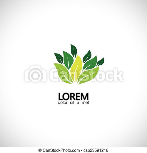 9ecf0fac544 Leaves icon of nature, plants, forest, biodiversity - eco concept ...