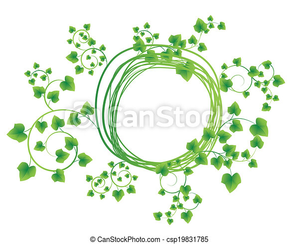 leaves in the form of abstract banner - csp19831785