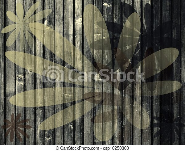 leaves on wooden background - csp10250300