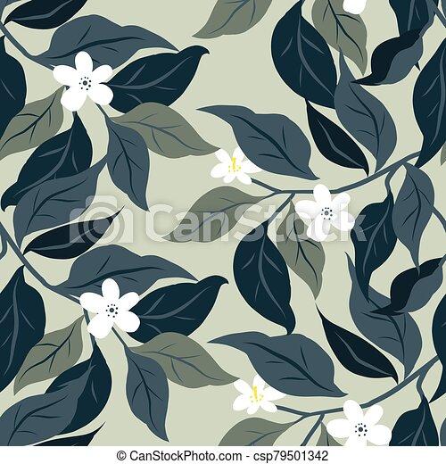 Leaves seamless pattern - csp79501342