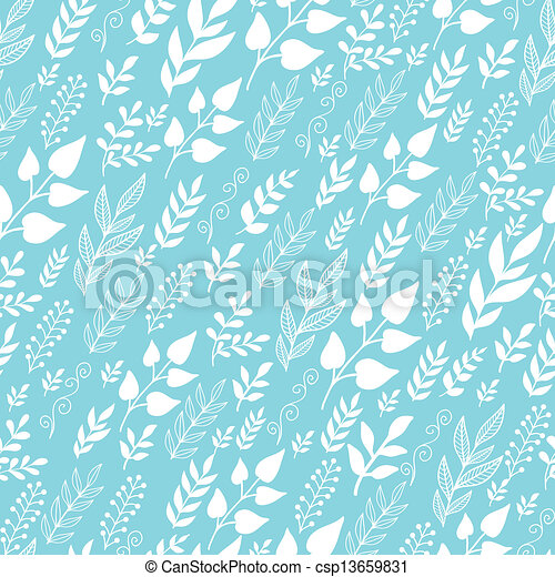 Leaves Silhouettes In the Wind Seamless Pattern background - csp13659831
