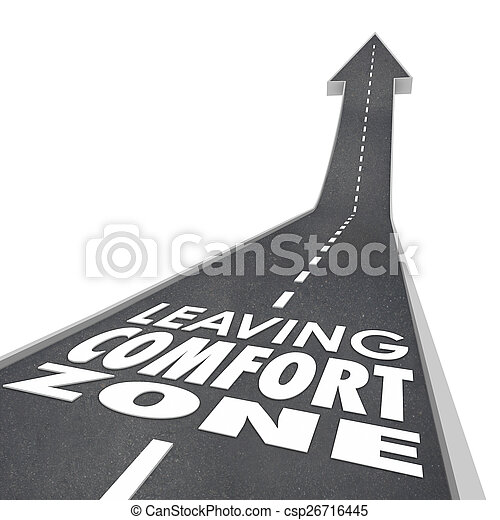 Leaving Comfort Zone Words Road Grow Increase New Experience - csp26716445