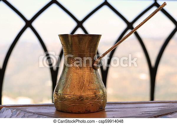 Lebanese Brass Coffee Pot - csp59914048
