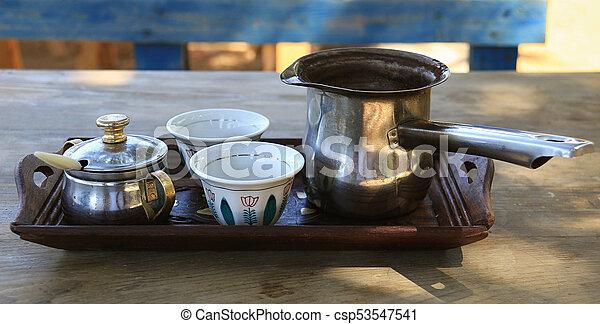 Lebanese Breakfast Coffee Arrangement - csp53547541