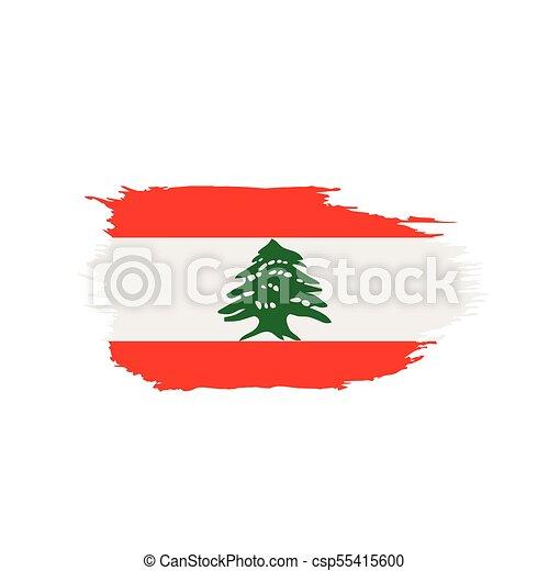 lebanese, vetorial, bandeira, ilustração - csp55415600