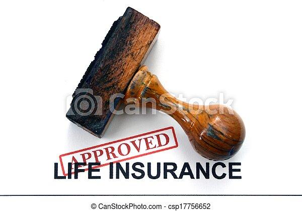 leben, -, versicherung, genehmigt - csp17756652