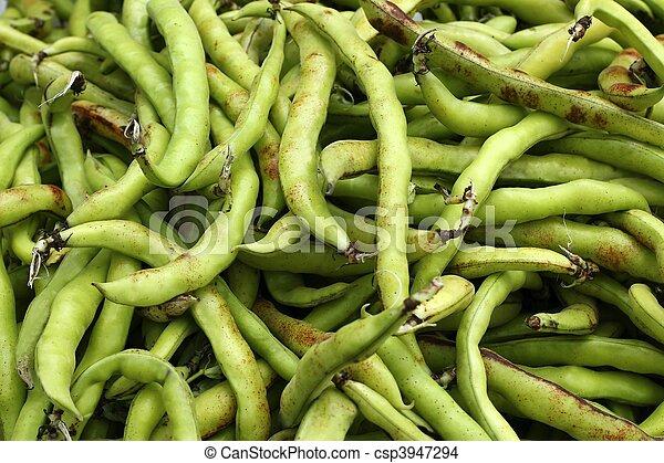 lebensmittel, gemuese, lima bohnen, beschaffenheit - csp3947294
