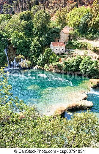 lebensunterhalt, idyllisch, park, sibenik, national, innerhalb, krka, -, krka, kroatien - csp68794834