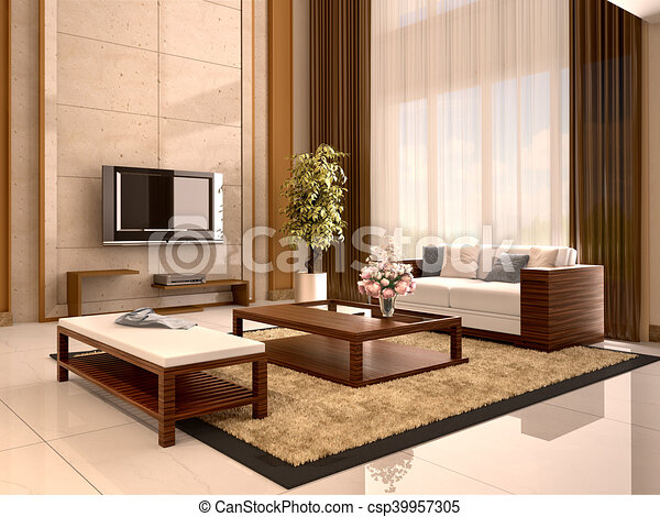 lebensunterhalt, illustration., modern, warm, design, colors., 3d, zimmer
