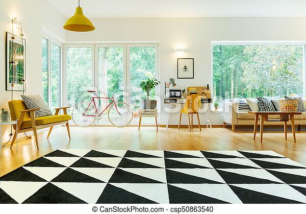 Lebensunterhalt, Rgeöffnete, Zimmer, Teppich   Csp50863540