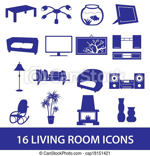 Ikone des Wohnzimmers eps10 - csp18151421
