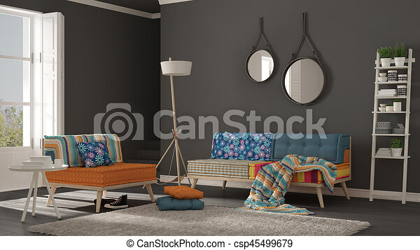 Lebensunterhalt teppich pelz zimmer bunte minimalist for Bunte sessel