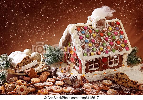 Lebkuchen, Selbstgemacht, Haus   Csp6145617
