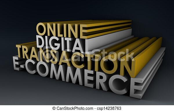 lebonyolítás, online, digitális - csp14238763