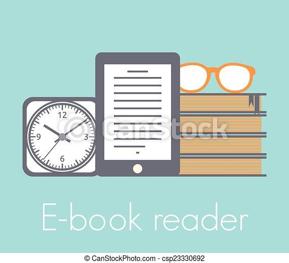 El concepto de lector de libros - csp23330692