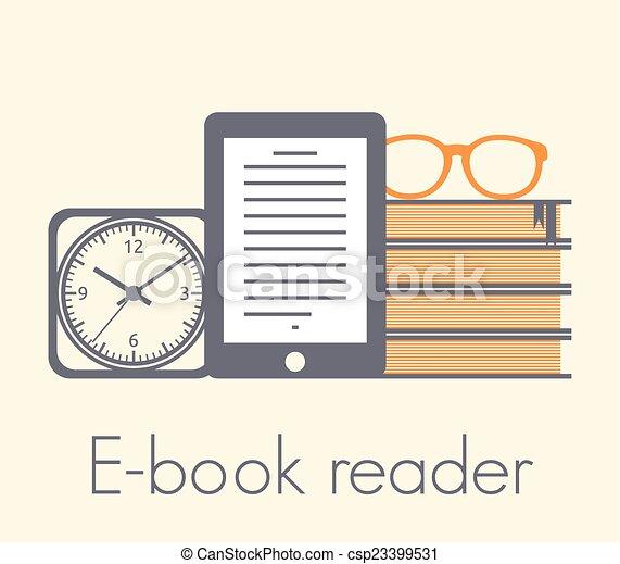 El concepto de lector de libros - csp23399531