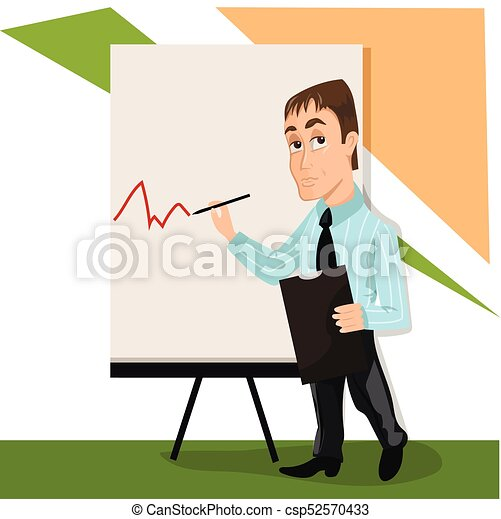 business man lector or trainer stand near board vectors search rh canstockphoto com PowerPoint Icons and Clip Art Teamwork Clip Art