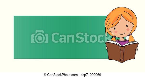 Una chica leyendo un libro - csp71209069