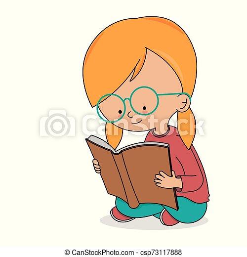 Una chica leyendo un libro - csp73117888
