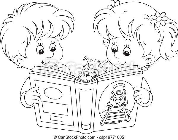 Niños leyendo - csp19771005