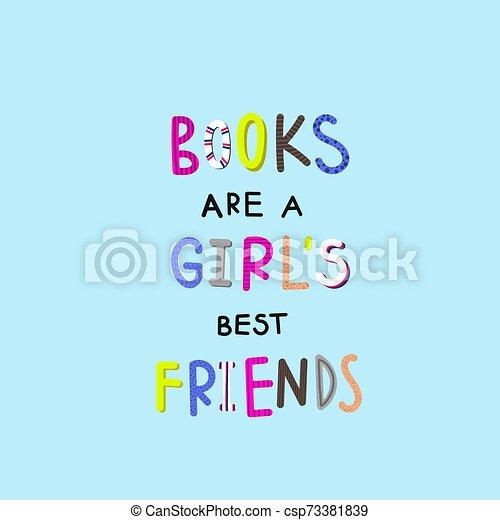 Leyendo ilustraciones de libros de tipografía - csp73381839
