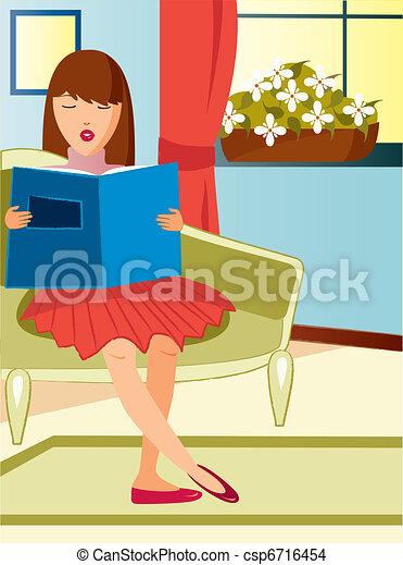 lecture femme - csp6716454